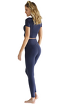 navy high waist Brazilian leggings tights