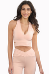 V Neck Athleisure Crop Top tank