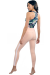 Peach Brazilian Activewear V Fold Legging w/ Stripes