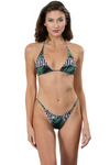 AMALIA Mixed Print Triangle Bikini Top