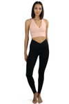 Black V Fold Brazilian Activewear Legging