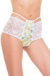 high waist brazilian lace pattern panty
