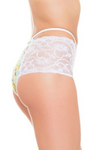 high waist style pattern lace panties