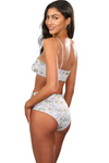 High Waist Hot Swimsuit Bottom With Mesh Cutouts