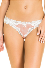 Lace Brazilian Panty. Cheekster