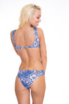 Blue Animal Print Bathing Suit