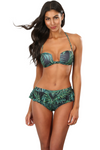 Palm Leaves Bandeau Bikini Top