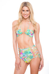 high waist Bathing Suit Bottoms with Cut outs