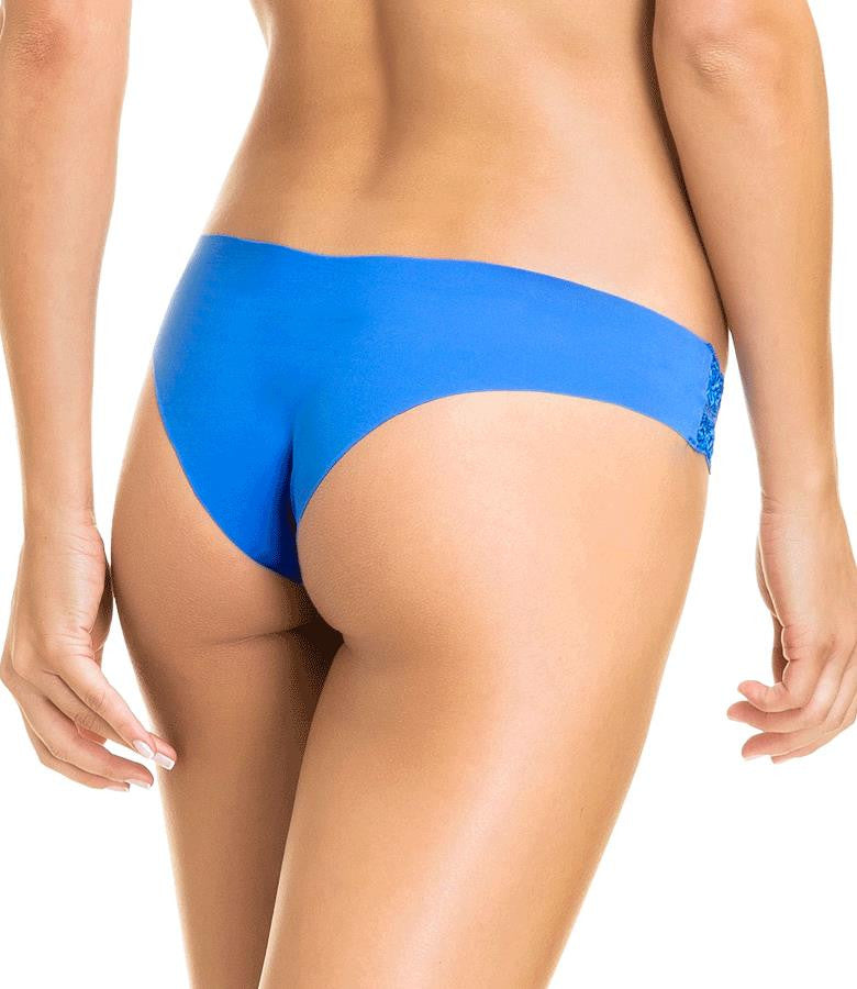 Blue Seamless Brazilian Panties