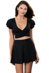 GRACE BLACK Beachwear Crop Top