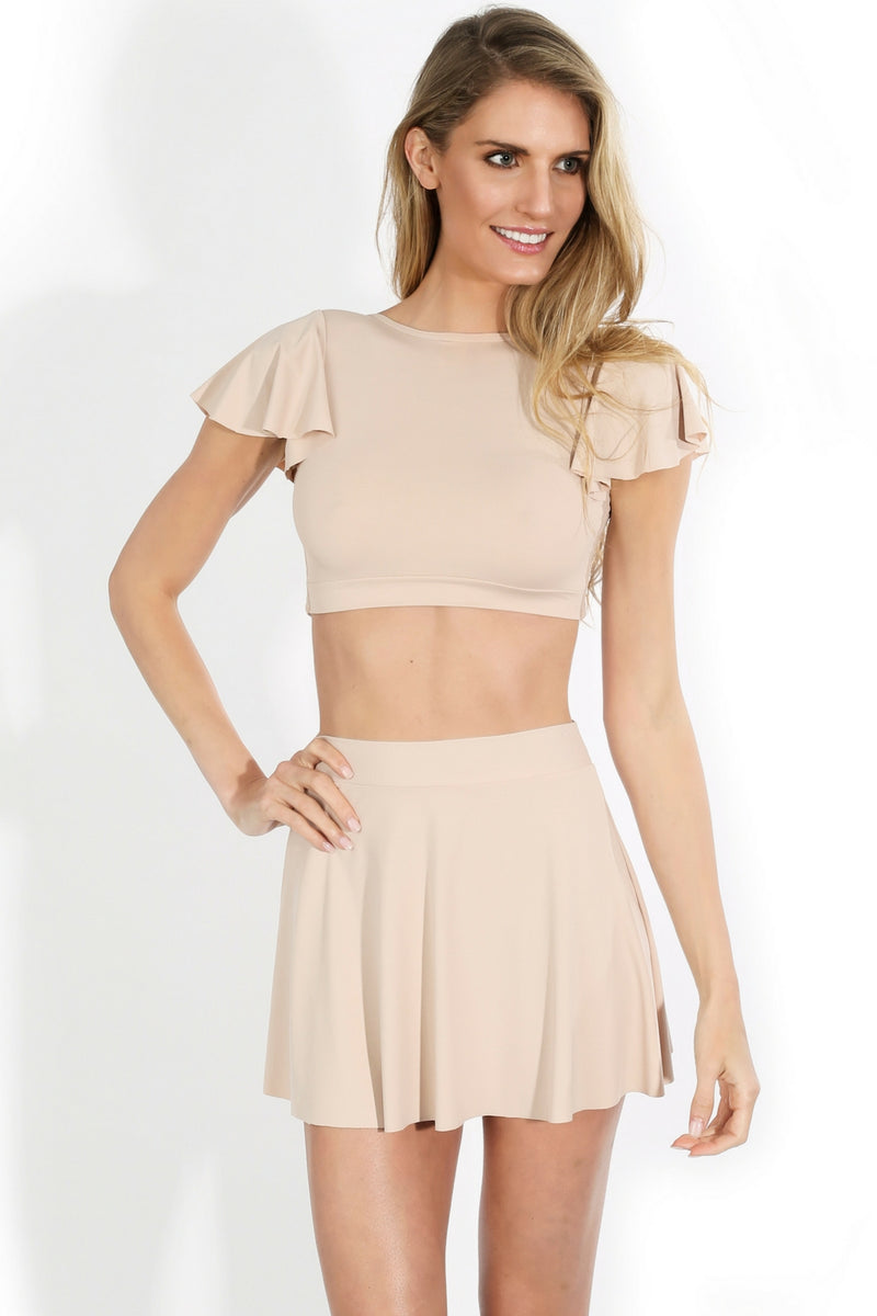 nude brazilian crop top open back