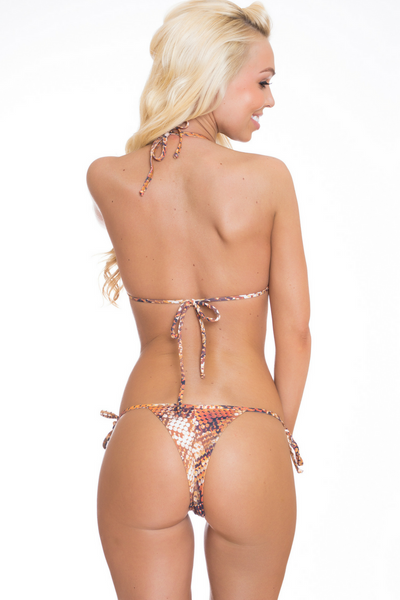 IRINA ANIMAL PRINT Brazilian Thong Bikini Bottom