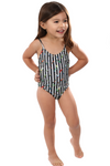 Kids One Piece Swimsuit. Ties in the Back