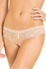 Beige Lace Cheeky Hipster Panty