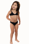 Black Triangle Bikini Top Kids Two-Piece Swimsuit