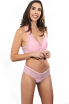 Lace Brazilian Pink Thong Panties