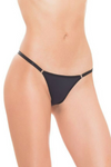 Black String Adjustable Bikini Panty