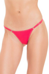 Red Brazilian String Bikini Panties