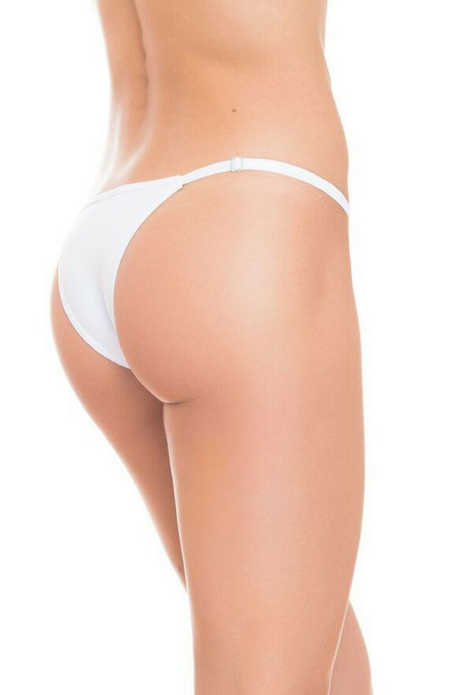 White Brazilian String Bikini Panties