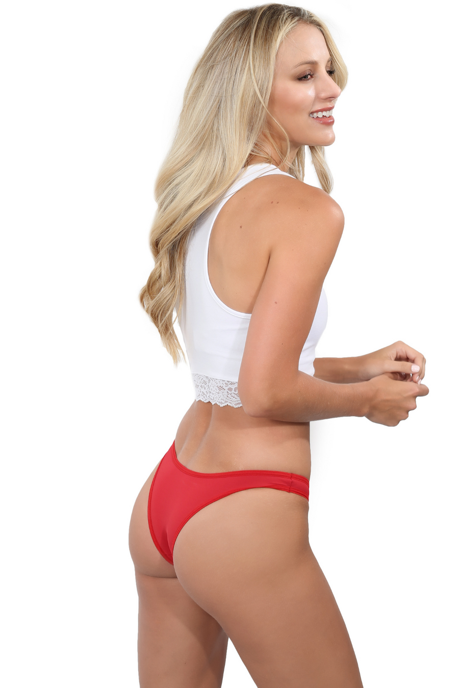Red Brazilian Cut Underwear
