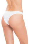 White Cheeky Underwear V Cut