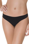 black brazilian thong panty seamless