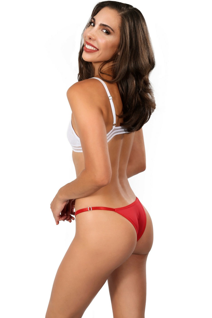 PEROLA RED String Bikini Panty