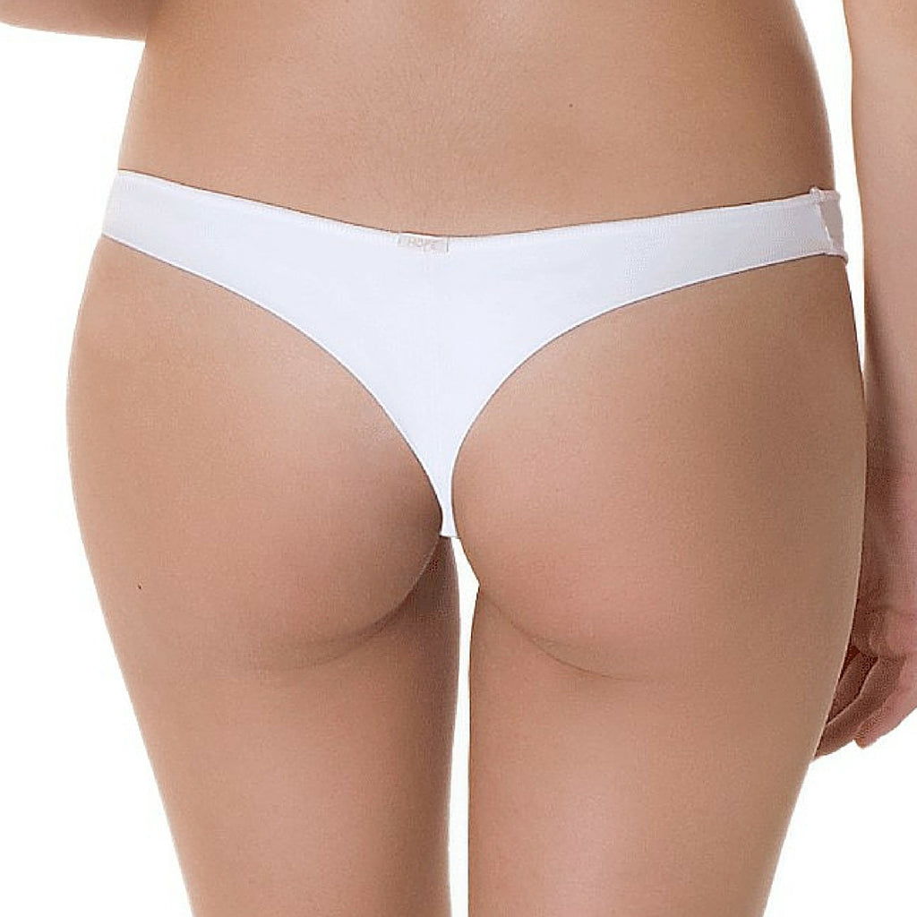 white Brazilian thong panties