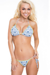 Padded Triangle Bikini Top with ruffles
