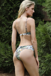 Brazilian ruched v high cut bikini bottoms
