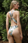 plunging neckline Brazilian one piece swimsuit