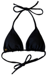 triangle black bikini top with removable padding