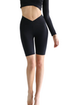 MATHILDE BLACK Activewear V Fold Long Shorts