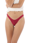 Brazilian deep red high cut tanga panty
