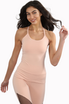 Peach activewear athleisure tank
