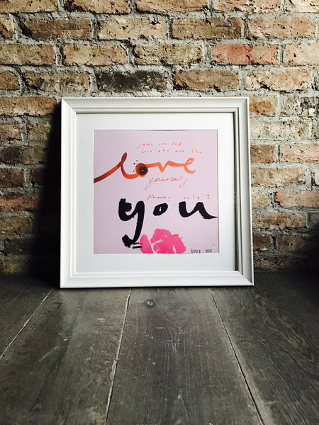 LOVE YOU Print (pink)