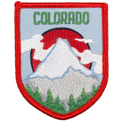Colorado Shield Patch (Blue and Red)