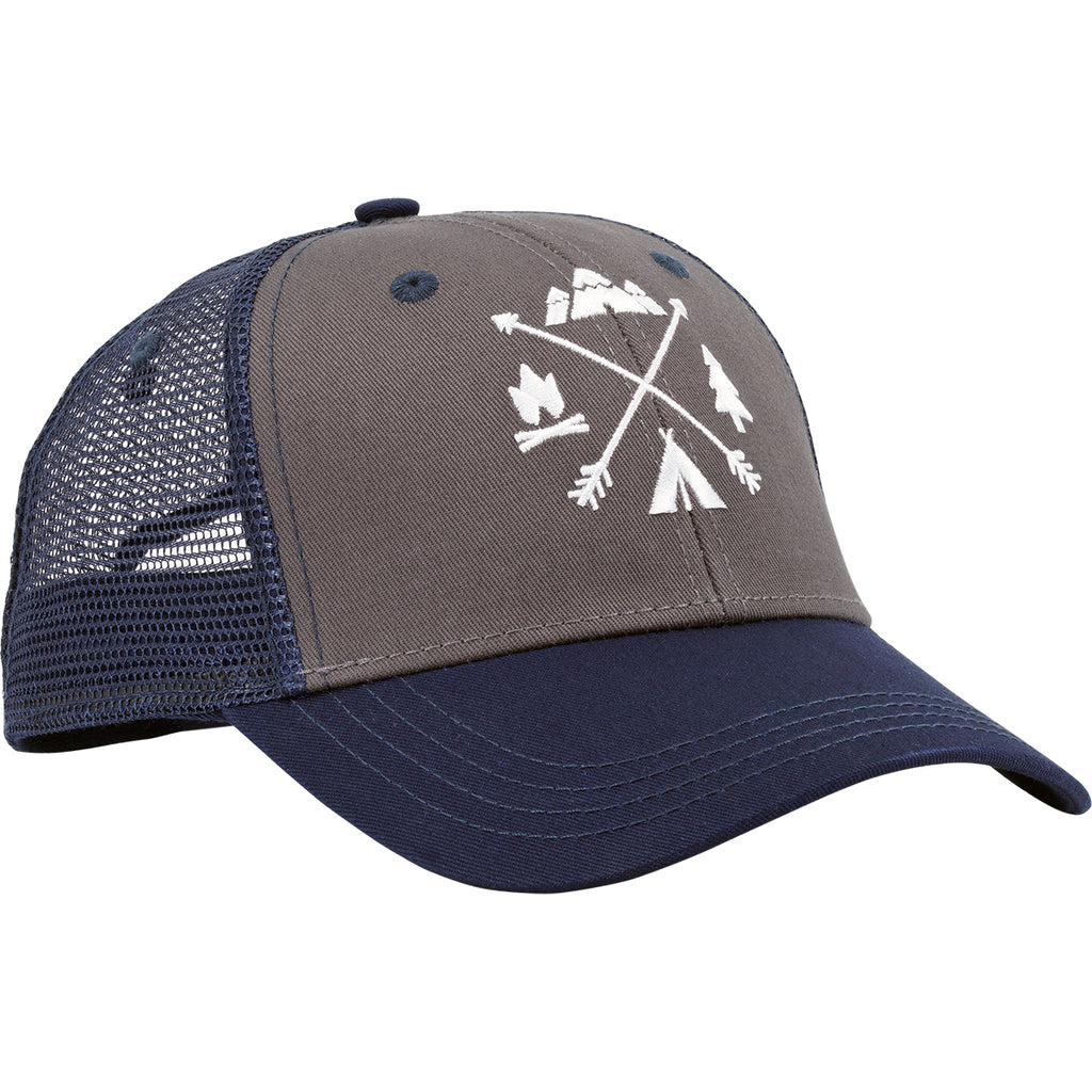 X-Arrows Curved Trucker (Navy and Grey)