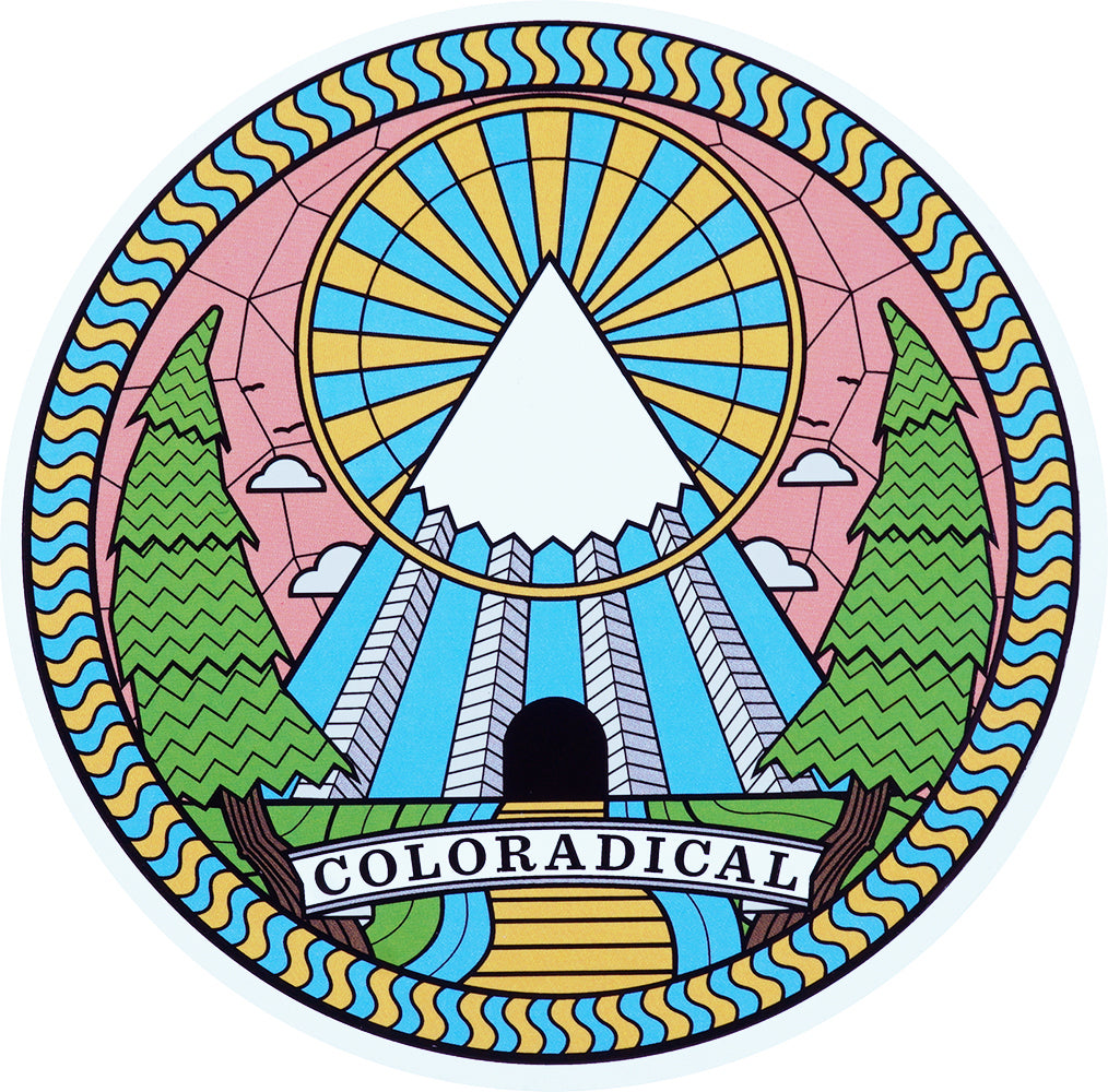 Path to Rad Mountain Sticker