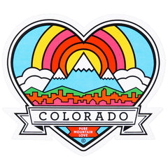 Coloradical Colorado Heart Sticker