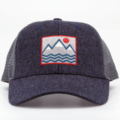Square Vibes Trucker (Herringbone)