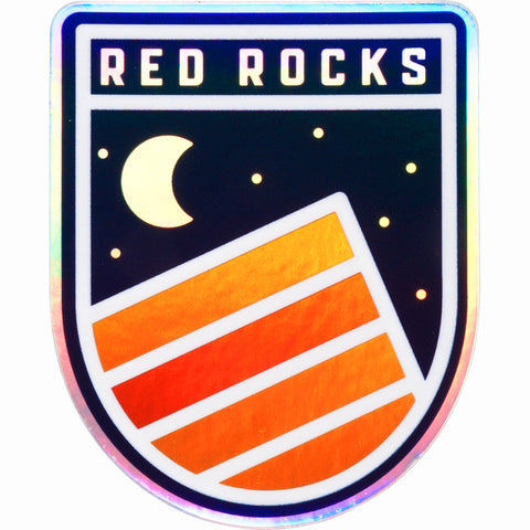 Red Rocks Hologram Sticker