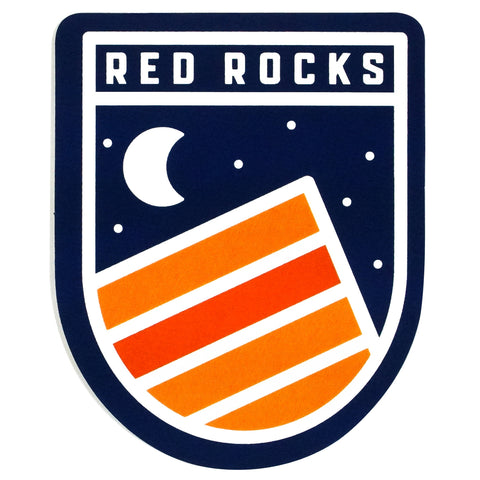 Red Rocks Sticker (Night)
