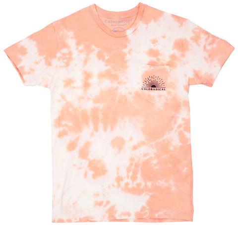 Coral Sunrise Pocket Tee