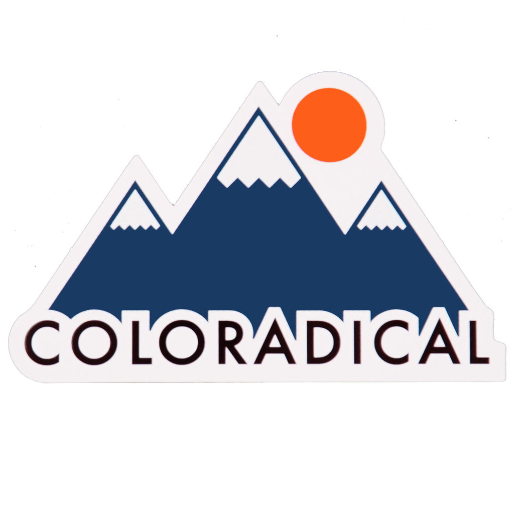 Coloradical Colorado Mountains Sticker