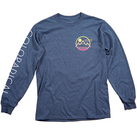 Vibe Mountain Gradient Long Sleeve Tee