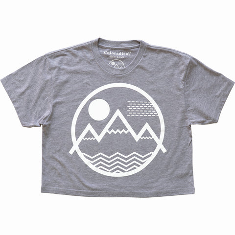 Vibe Mountain Relaxed Crop Tee
