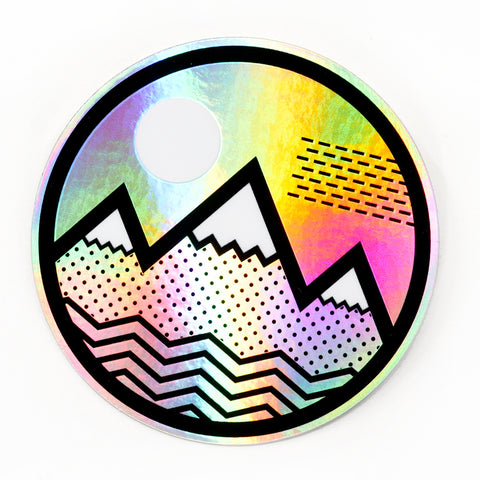 Vibe Mtn Hologram Sticker