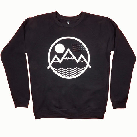 Vibe Mountain Crewneck Sweatshirt (Black)