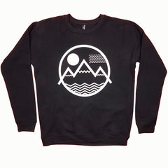 Coloradical Colorado Vibe Mountain Logo Black Sweatshirt